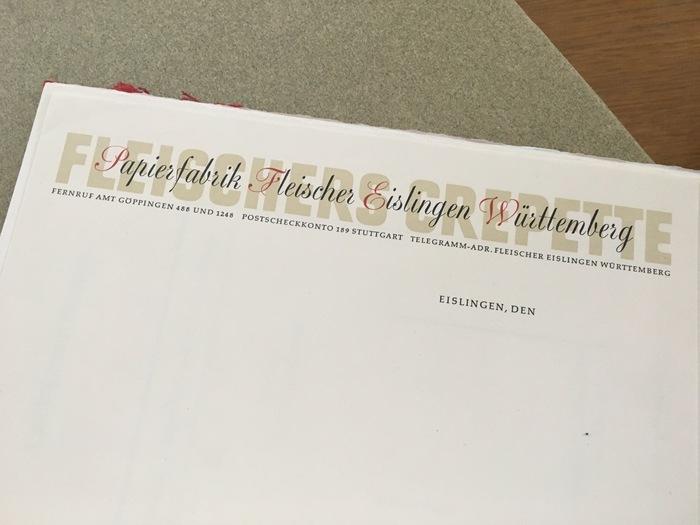 Papierfabrik Fleischer letterhead 1