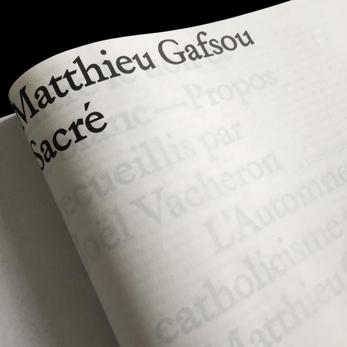 Sacré – Matthieu Gafsou 3