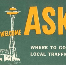 """Ask me – I live here!"" bumper sticker"