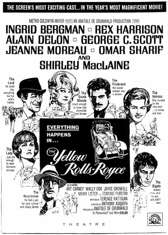 The Yellow Rolls-Royce (1964) movie posters 5