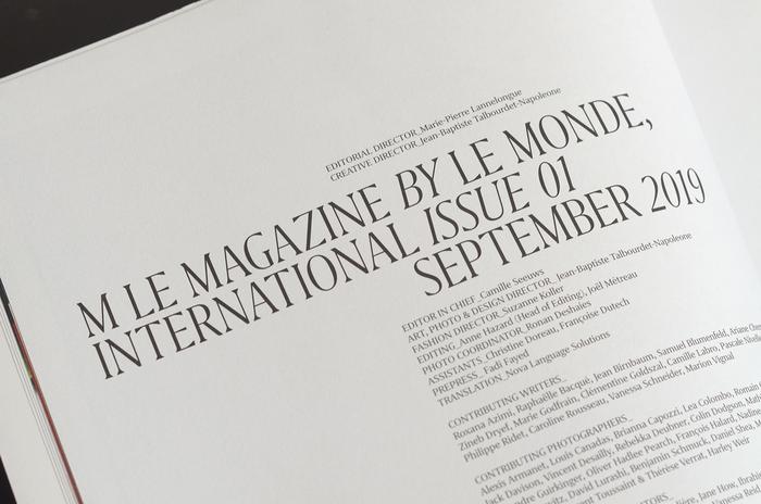 M Le Magazine Du Monde International, issue 01, 2019 2
