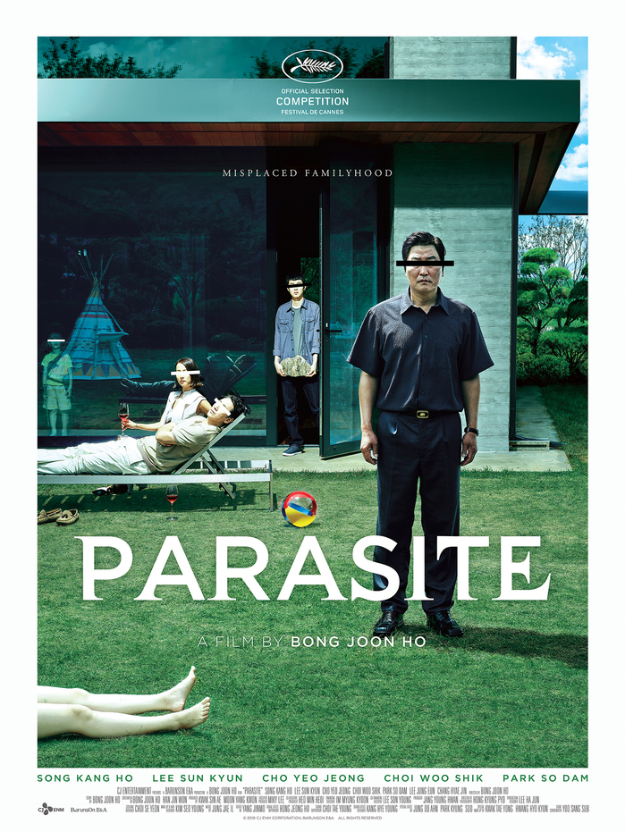 Theatrical one-sheet for Bong Joon Ho's Parasite (2019).