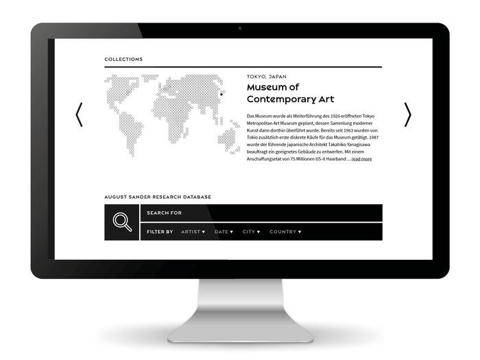 August Sander Stiftung website 1