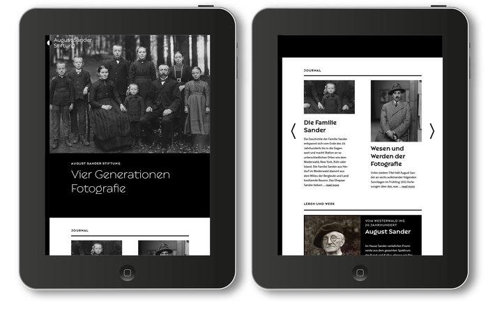 August Sander Stiftung website 3