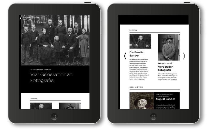 August Sander Stiftung website 3