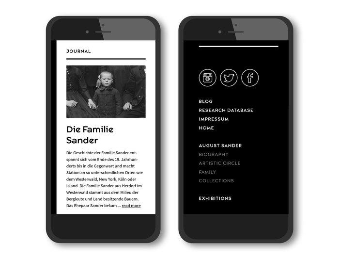 August Sander Stiftung website 4