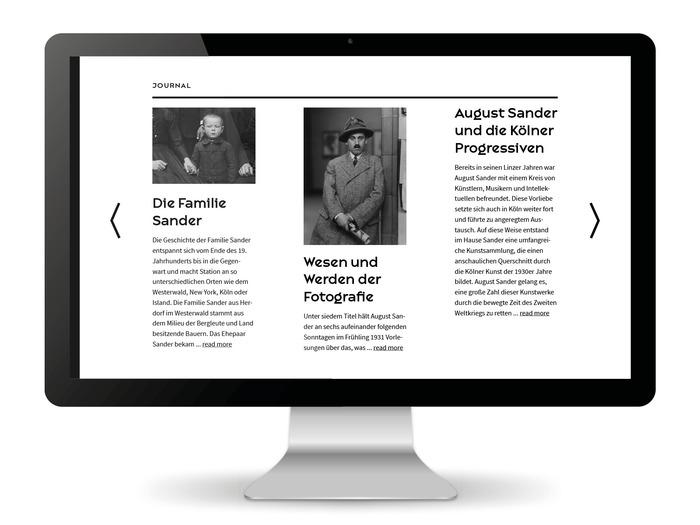 August Sander Stiftung website 5