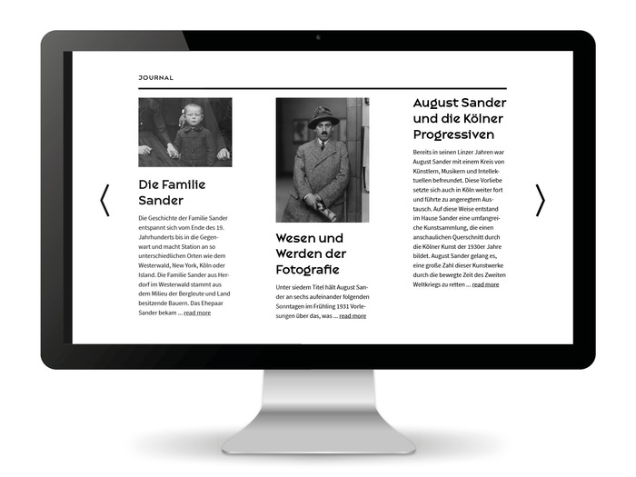 August Sander Stiftung website 5