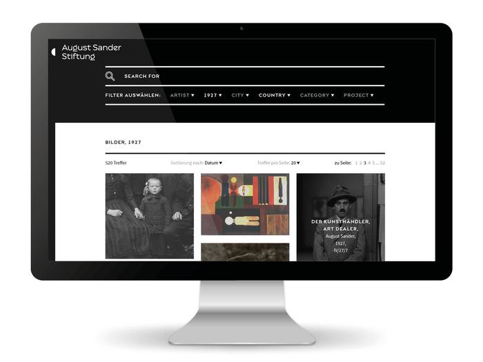 August Sander Stiftung website 6