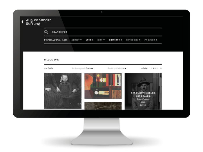 August Sander Stiftung website 6