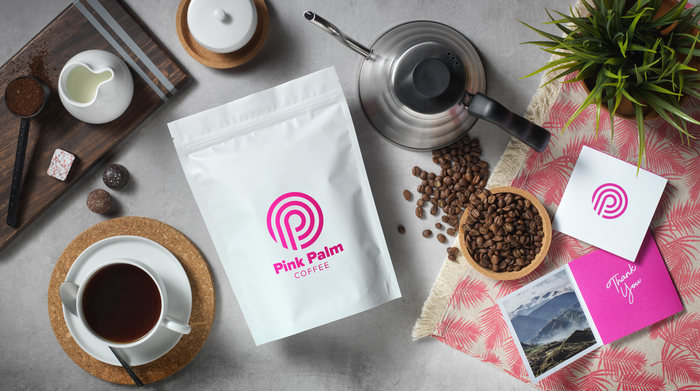 Pink Palm Coffee 1
