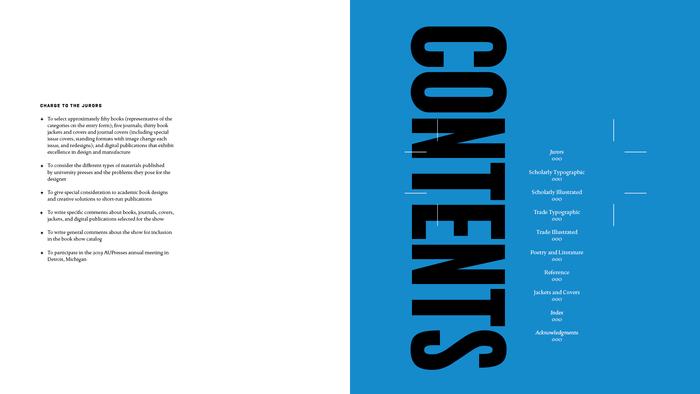 Catalog contents spread