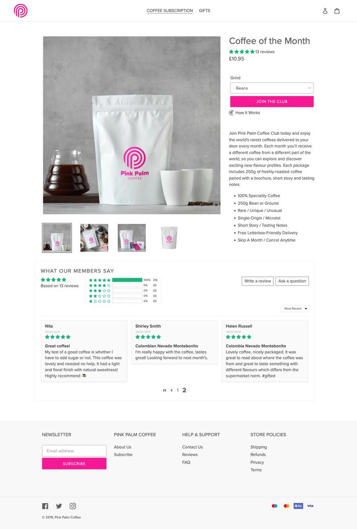 Pink Palm Coffee 6