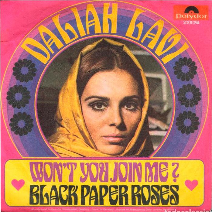 "Daliah Lavi – ""Won't You Join Me?"" / ""Black Paper Roses"" German single sleeve"
