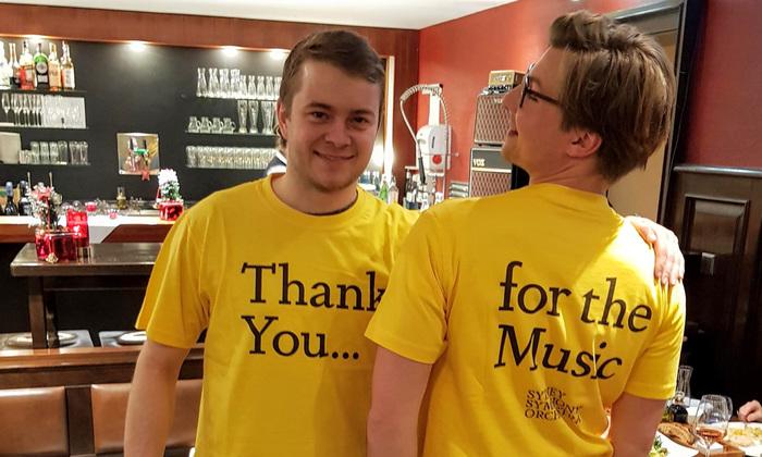 Staff T-shirts.