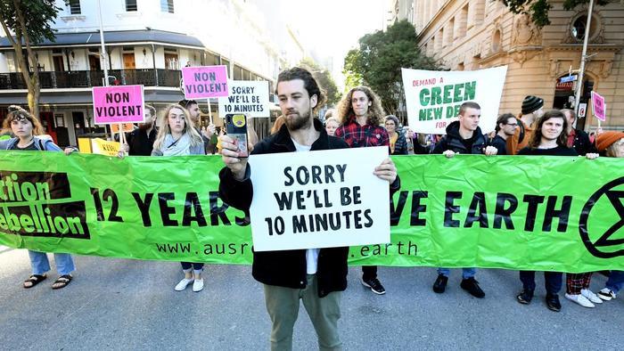 Pop-up demonstration in Australia.