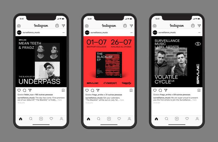 Surveillance Music brand identity 1