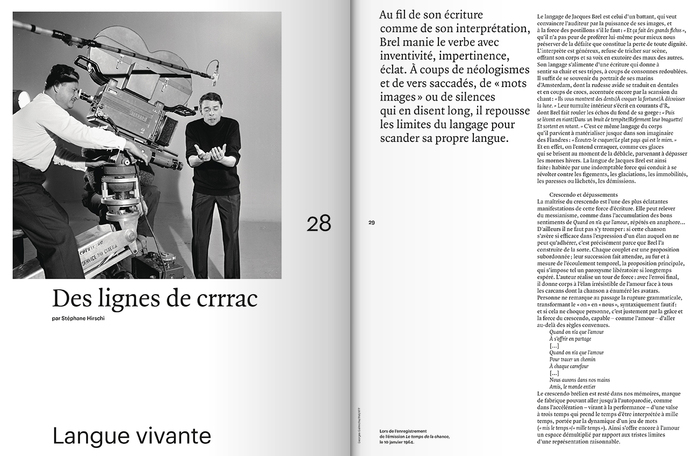 "Télérama Hors-Série Nº 214, ""L'aventure Brel"", Sept 2018 4"