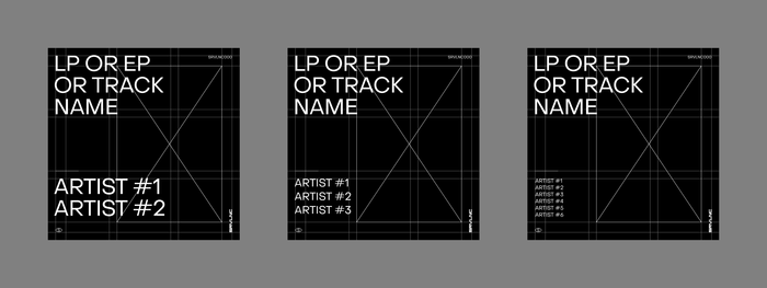 Template grid system for the album covers.