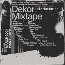 <cite>Dekor Mixtape</cite> (MAR-013)