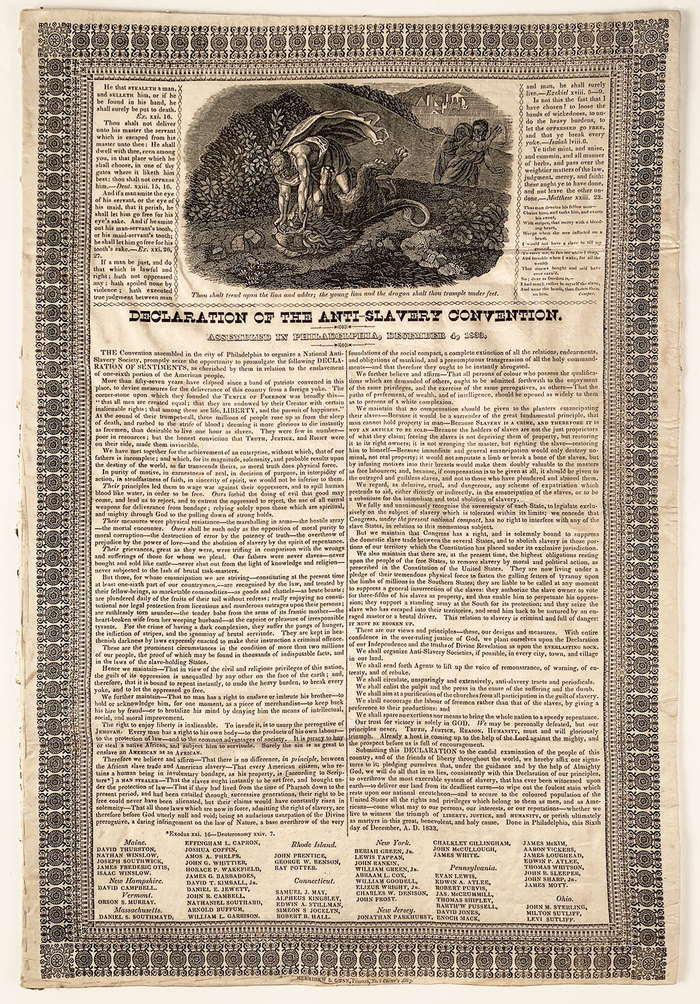 Declaration of the Anti-Slavery Convention 1