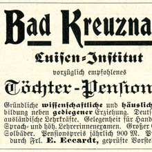 Luisen-Institut  and Gotha III ads (1906)