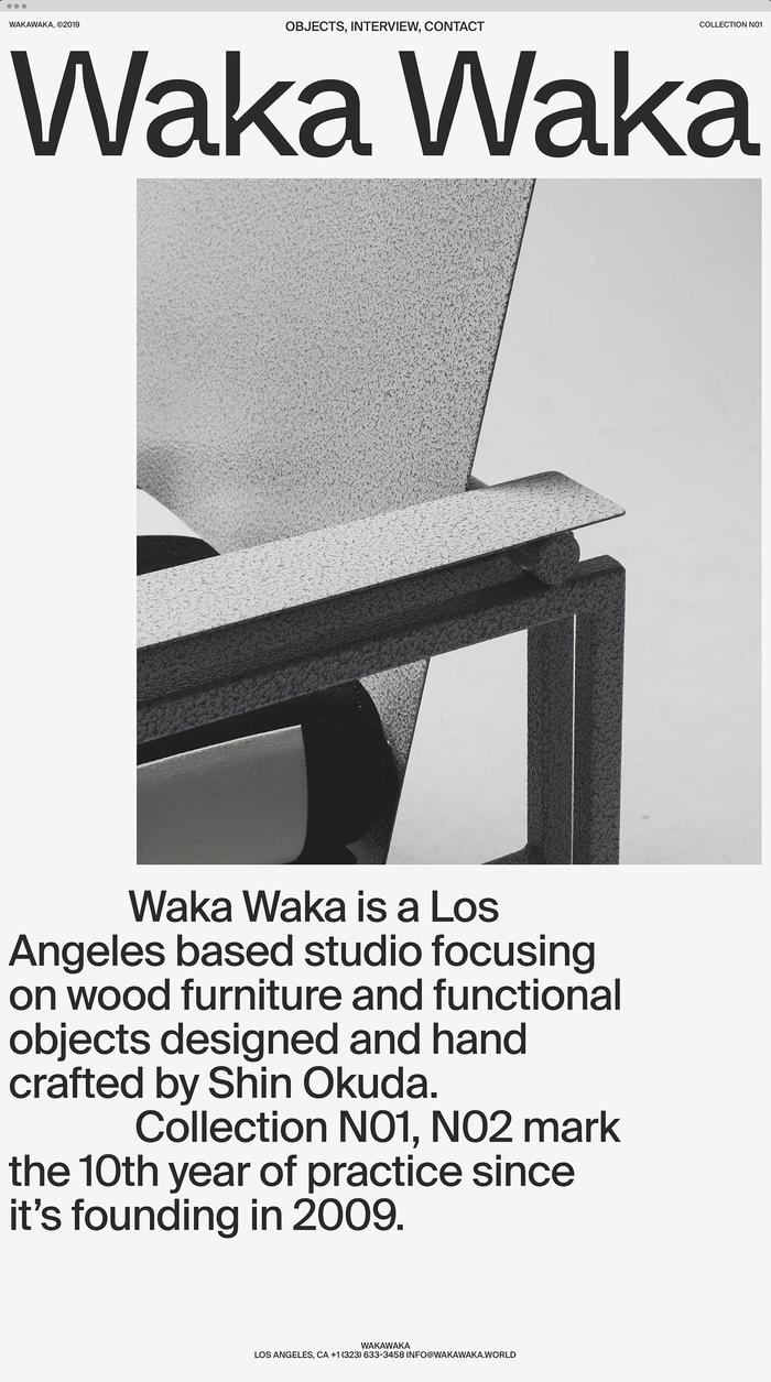 Waka Waka, Collection N01 5