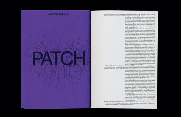 """Chapter opening for """"a short history of the patch""""."""