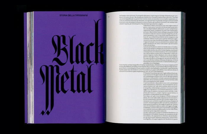 """Chapter opening for """"a history of Black Metal typography"""", featuring a narrow Fraktur with some hyperextended stems."""