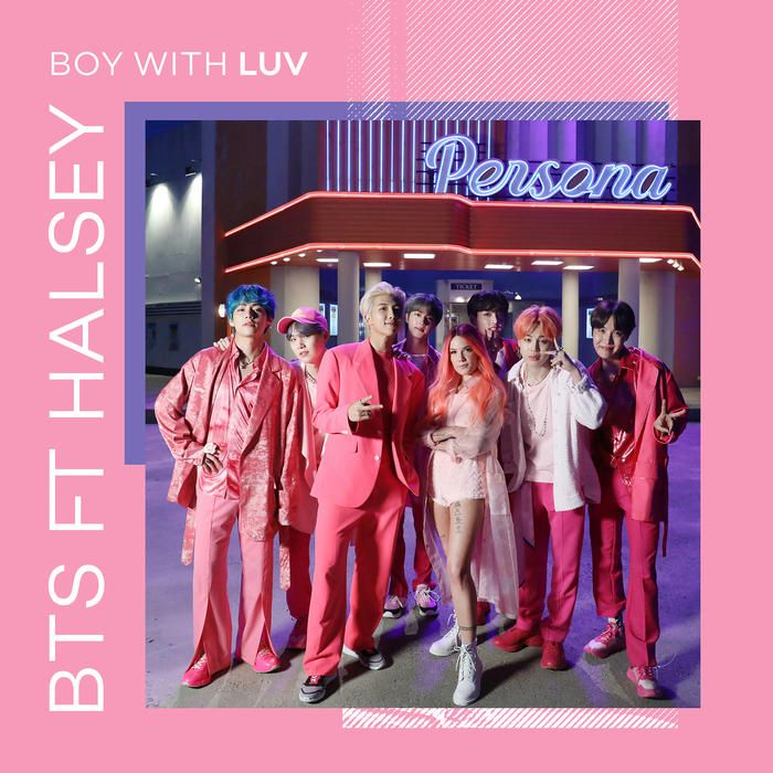 """Boy With Luv"" radio single cover – BTS ft. Halsey"