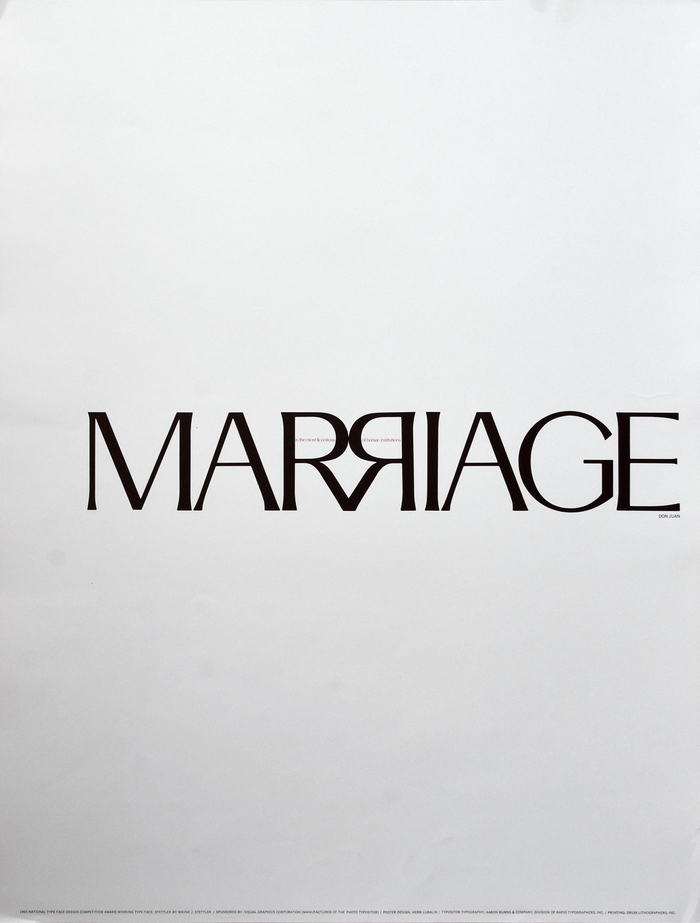 """""""Marriage"""" poster 1"""