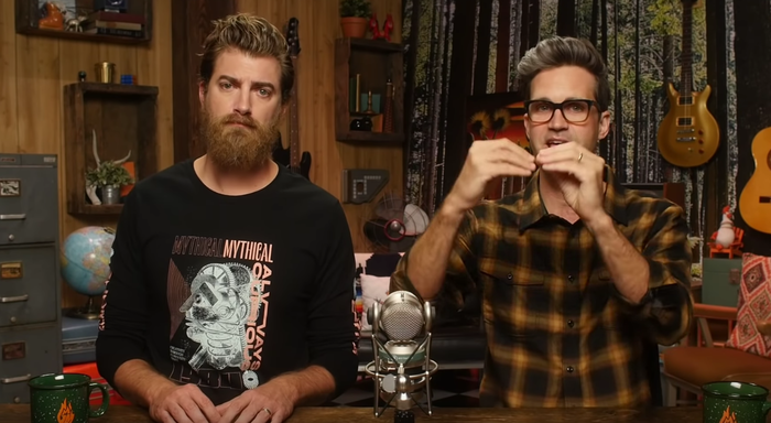The shirt in action, from a recent episode of Good Mythical Morning.
