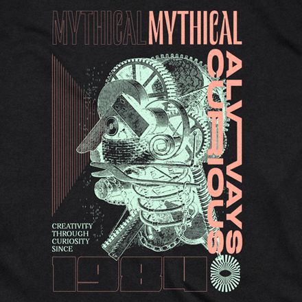 """""""Always Curious"""" shirt by Mythical Entertainment"""