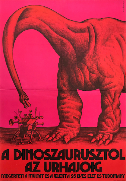 """""""From dinosaurs to spaceships"""" poster 2"""