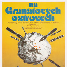 <cite>Na granátových ostrovech </cite>(1983) Czechoslovak movie poster