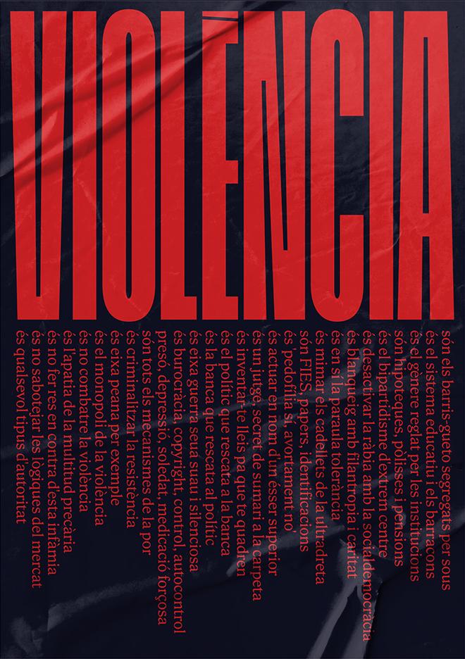 """""""Violència"""" poster 1"""
