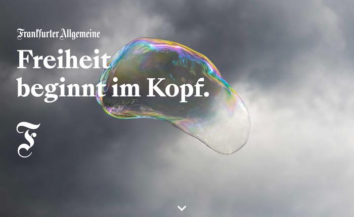 """The website is titled Freiheit beginnt im Kopf (""""Freedom starts in the head."""")"""