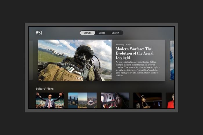 WSJ Apple TV app 1