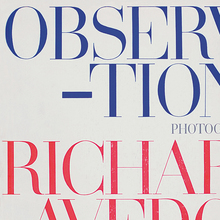Richard Avedon, <cite>Observations</cite>