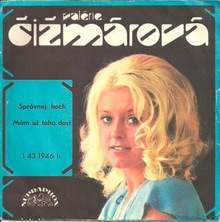 Valérie Čižmárová singles (Supraphon, 1974–1977)