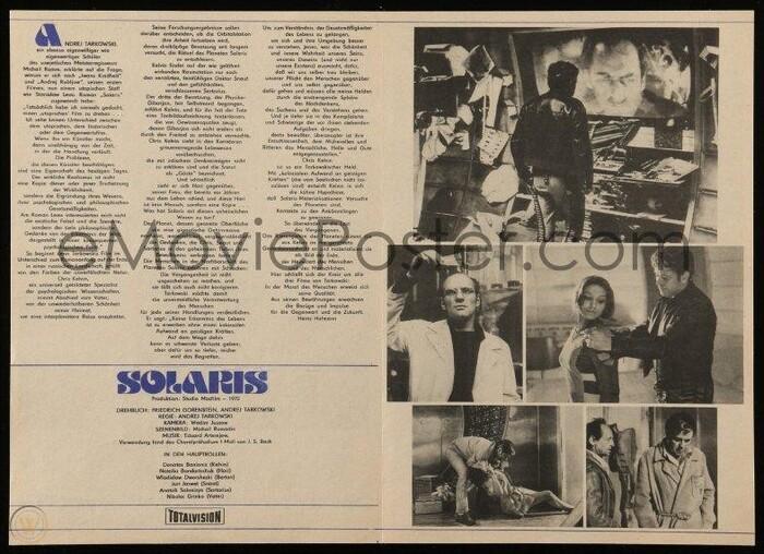 Solaris (1972) program booklet, Progress Film-Verleih 3