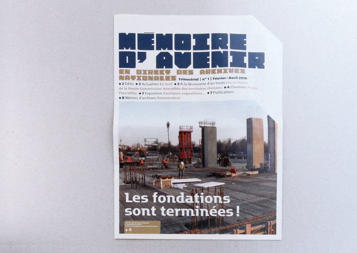 Cover of Mémoire d'avenir n° 1, February–April 2010.