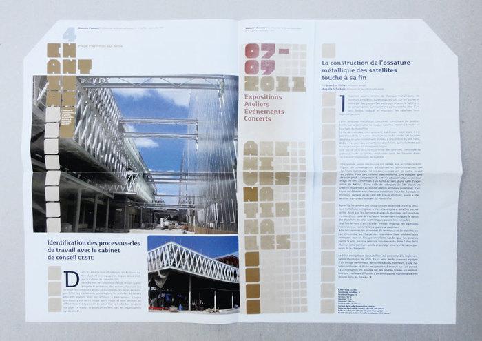Spreads from Mémoire d'avenir n° 1, February–April 2010.